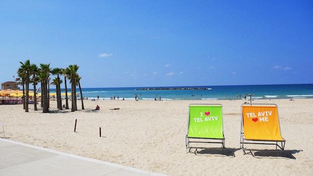 Free stock photo of sea, summer, sunny day, Israel