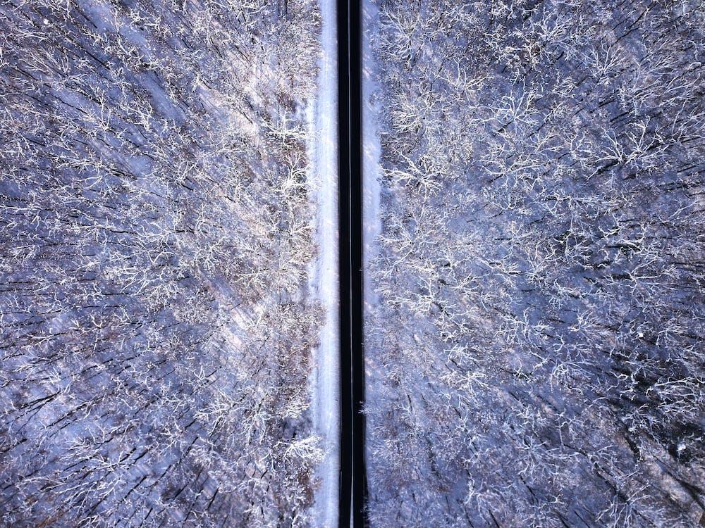 ilmakuva, lintuperspektiivi, lumi