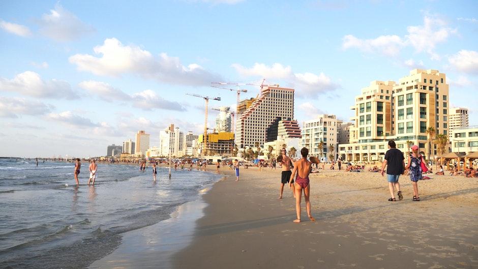 beach, summer, tel aviv