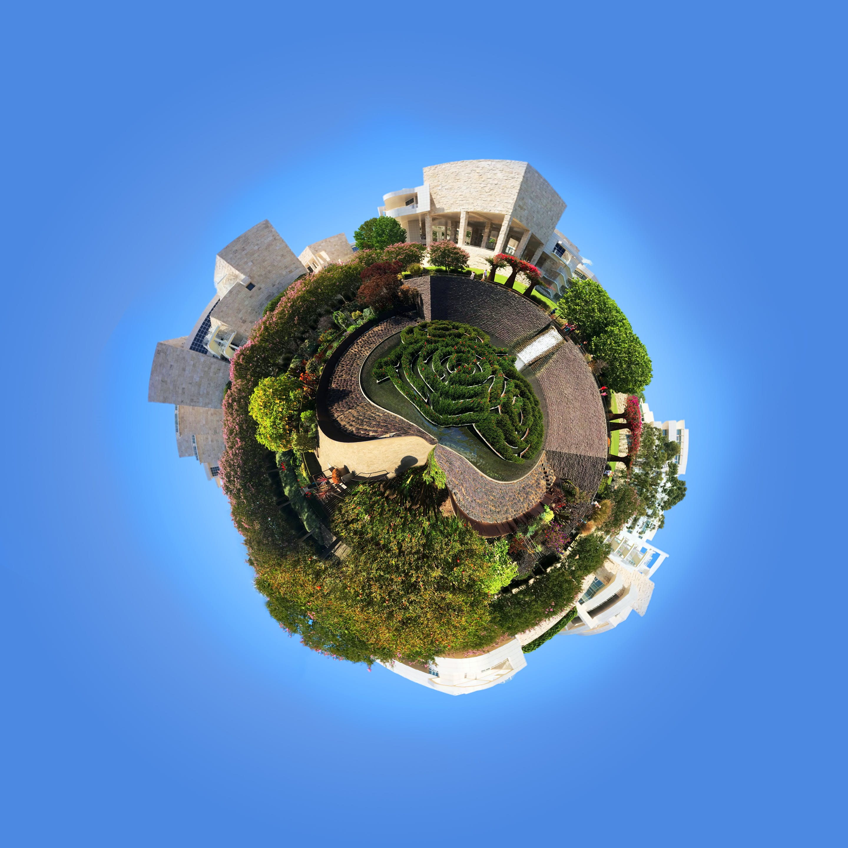 Free stock photo of getty, museum, Tiny planet