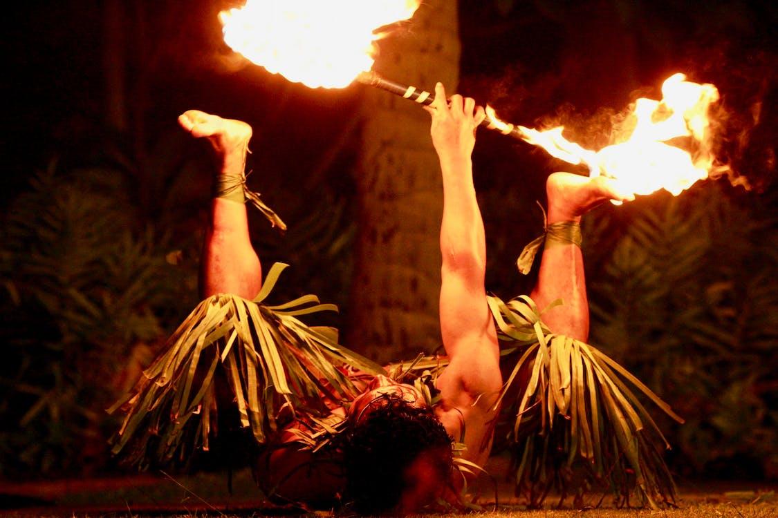 fire, fire dancer, flame