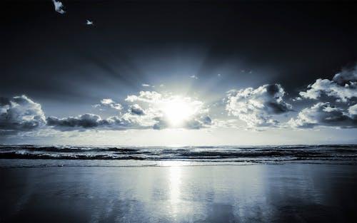 Безкоштовне стокове фото на тему «берег моря, вода, легкий, махати»