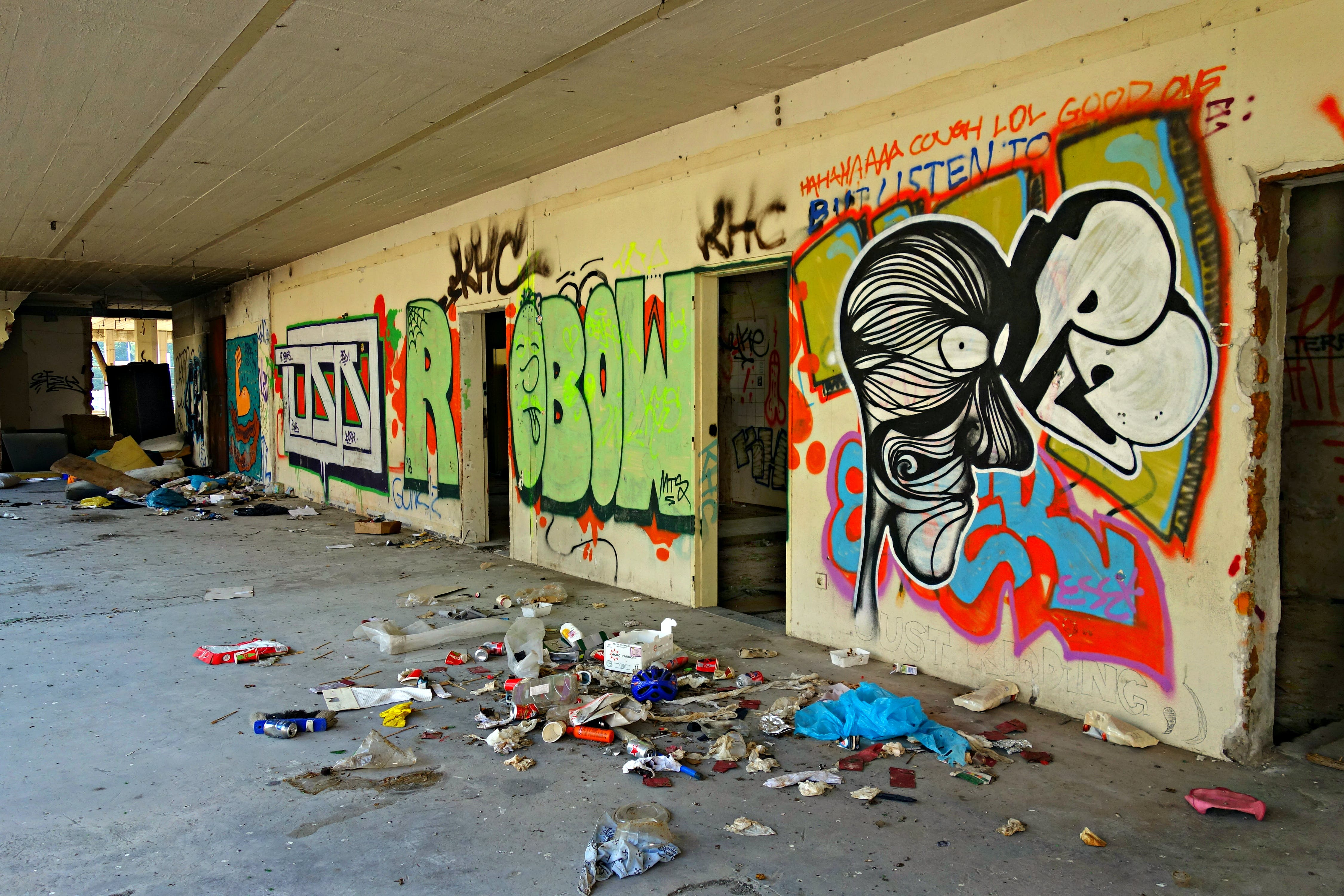 Free stock photo of graffiti, dirty, building, inside