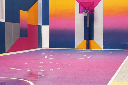 Zdjęcie Multi Coloured Basketball Court