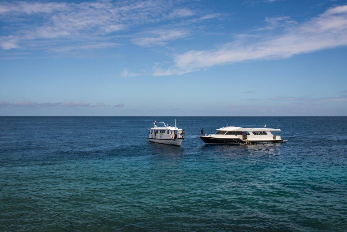 Free stock photo of beach, blue, boat