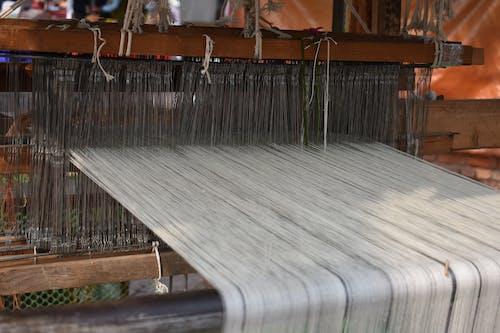 Free stock photo of cotton, cotton weaving, the weaving machine