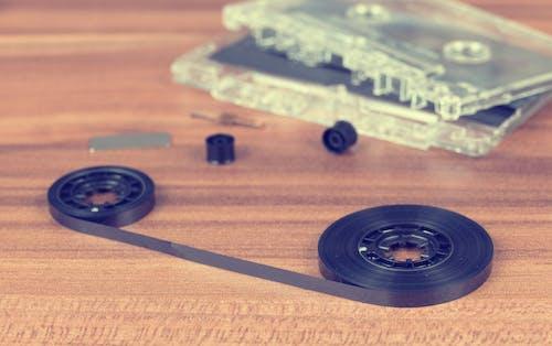 Fotos de stock gratuitas de adentro, casete, cinta, efecto desenfocado