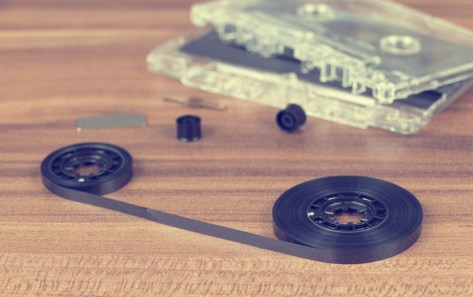 audio, broken, cassette