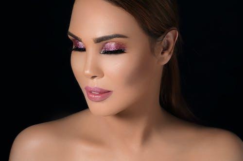 Gratis lagerfoto af glitter, kvindelig model, model, øjenskygge