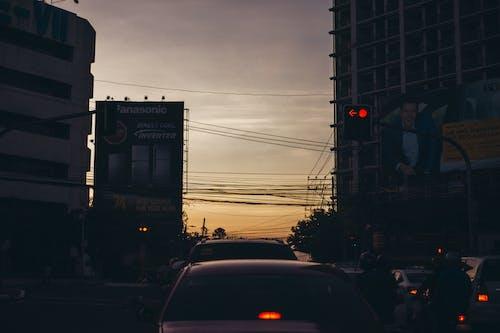 Ingyenes stockfotó autók, belváros, elektromos vezetékek, emberek témában