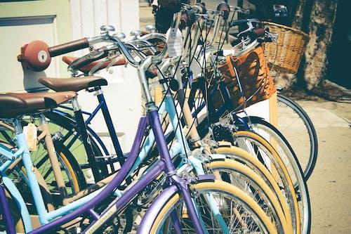 Ilmainen kuvapankkikuva tunnisteilla katu, korit, Polkupyörät, pyörät