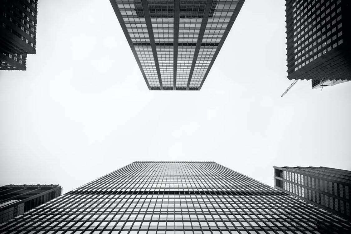 低角度攝影, 單色, 城市