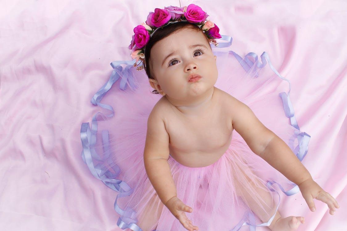 ansigtsudtryk, baby, balletskørt
