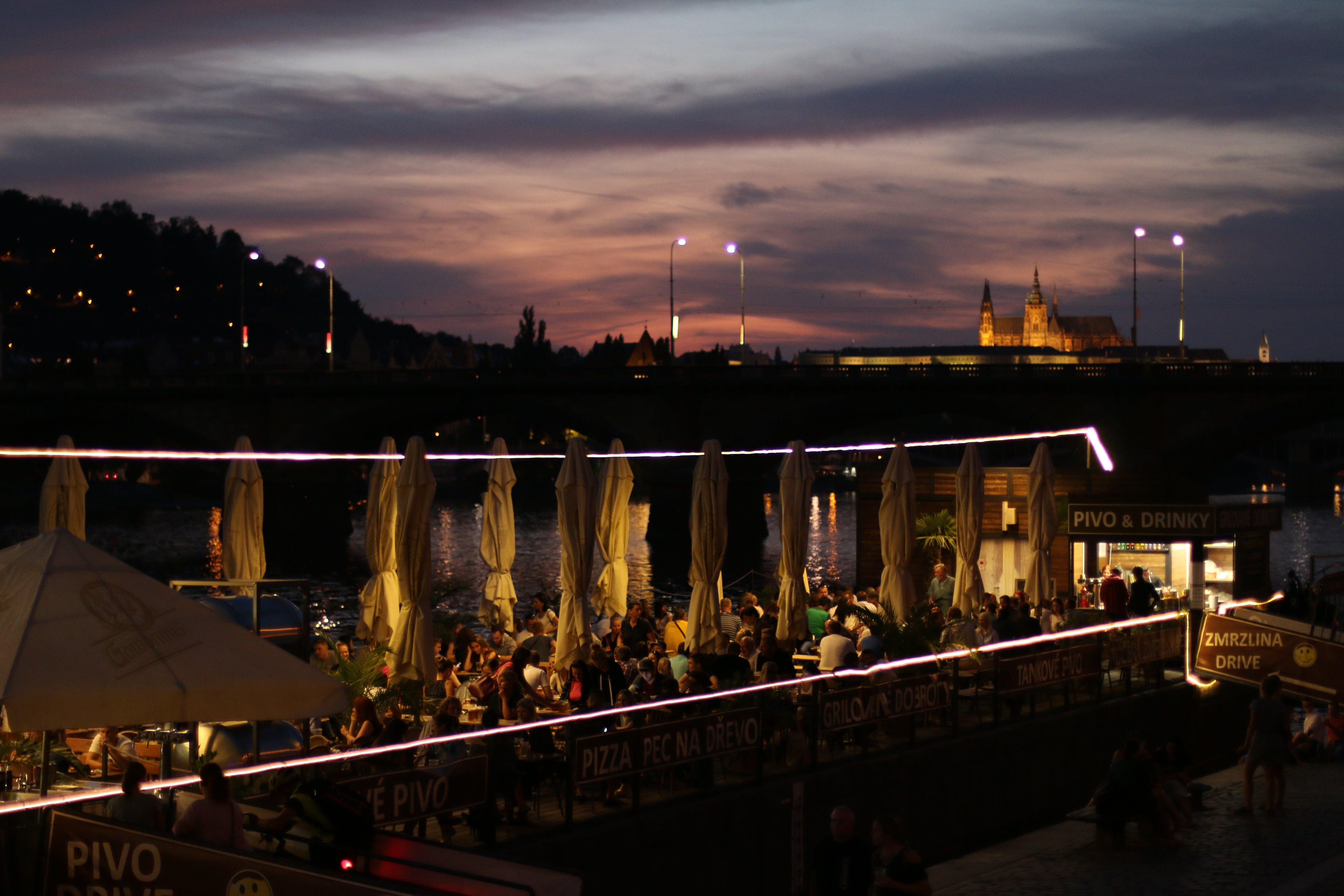 Free stock photo of hospoda, prague castel, prague evening, prague party