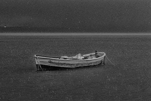 Kostnadsfri bild av noir et blanc, βροχή, όνειρα, σκάφος
