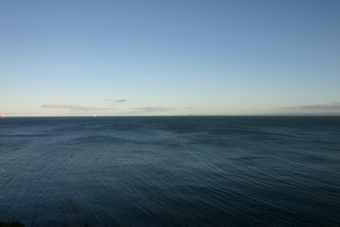 moře, obloha, voda