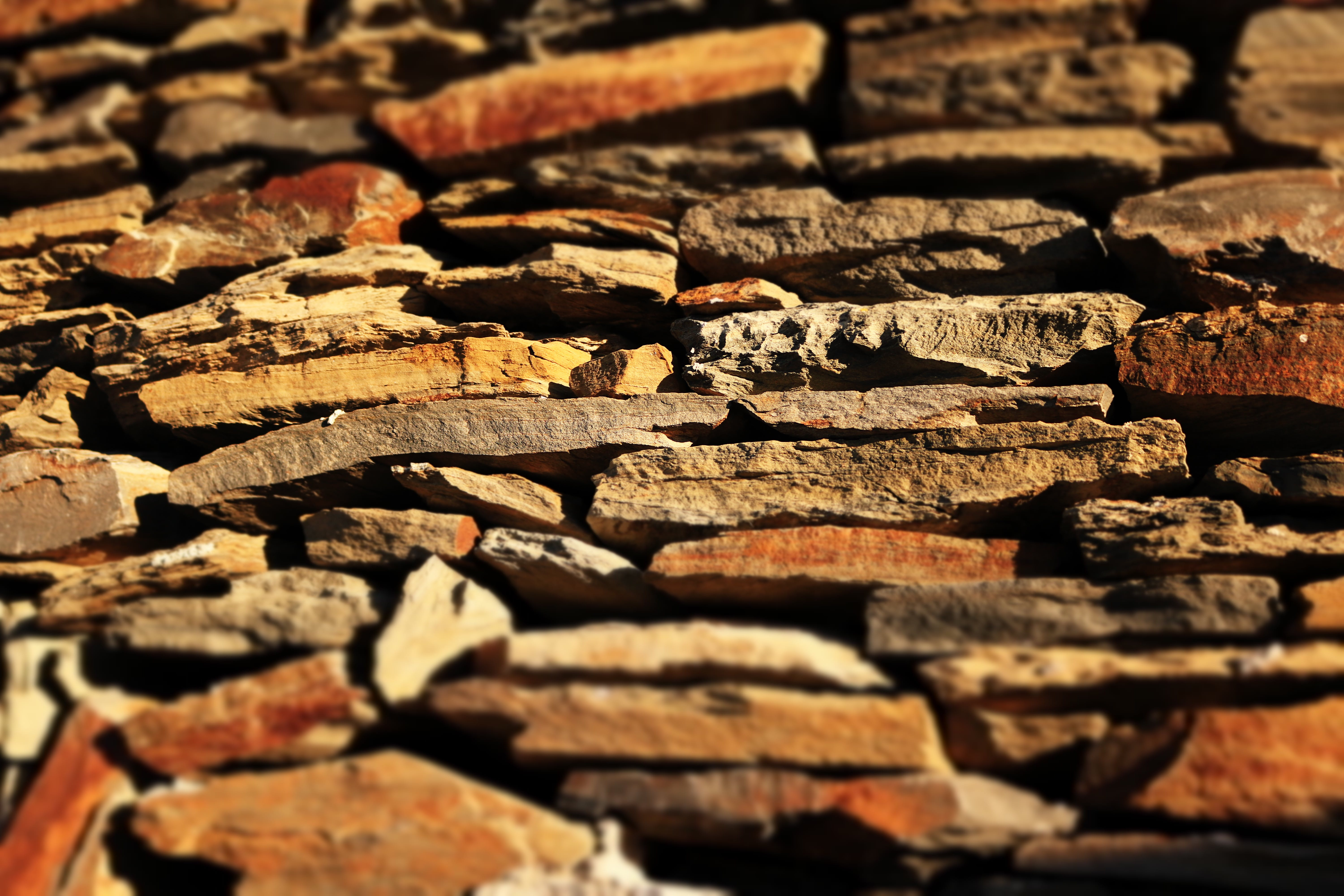Shallow Focus Photography of Brown and Gray Concrete Stones