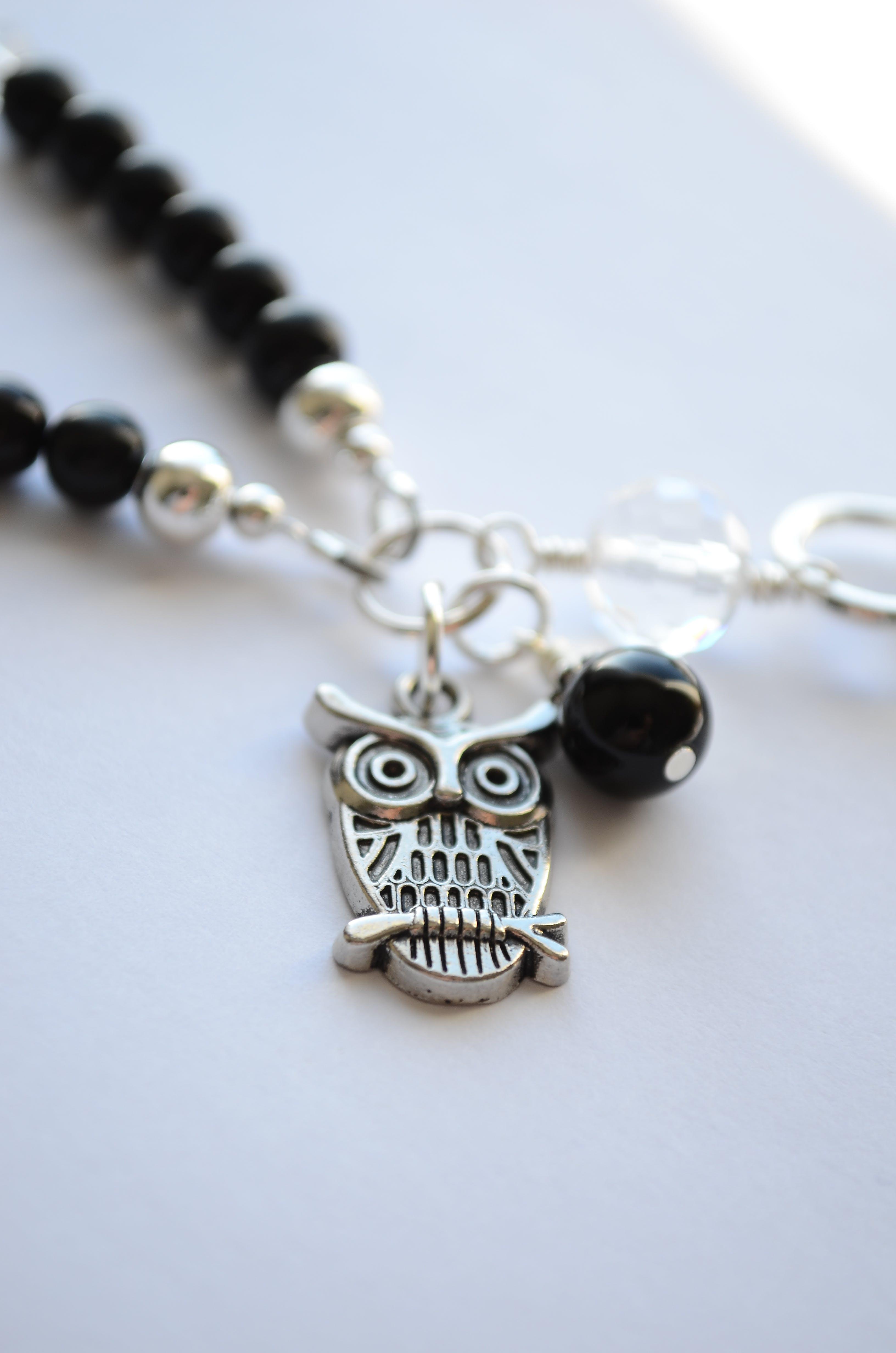 Free stock photo of black, bracelet, owl, silver