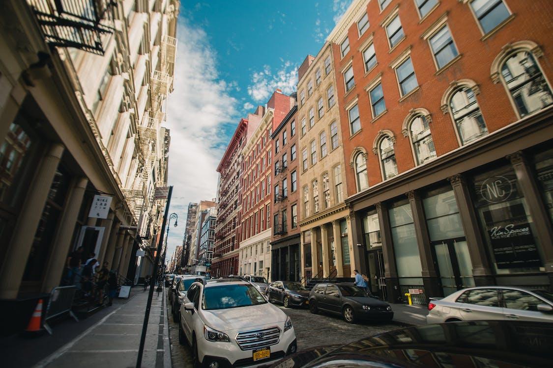 arquitectura, asfalto, calle