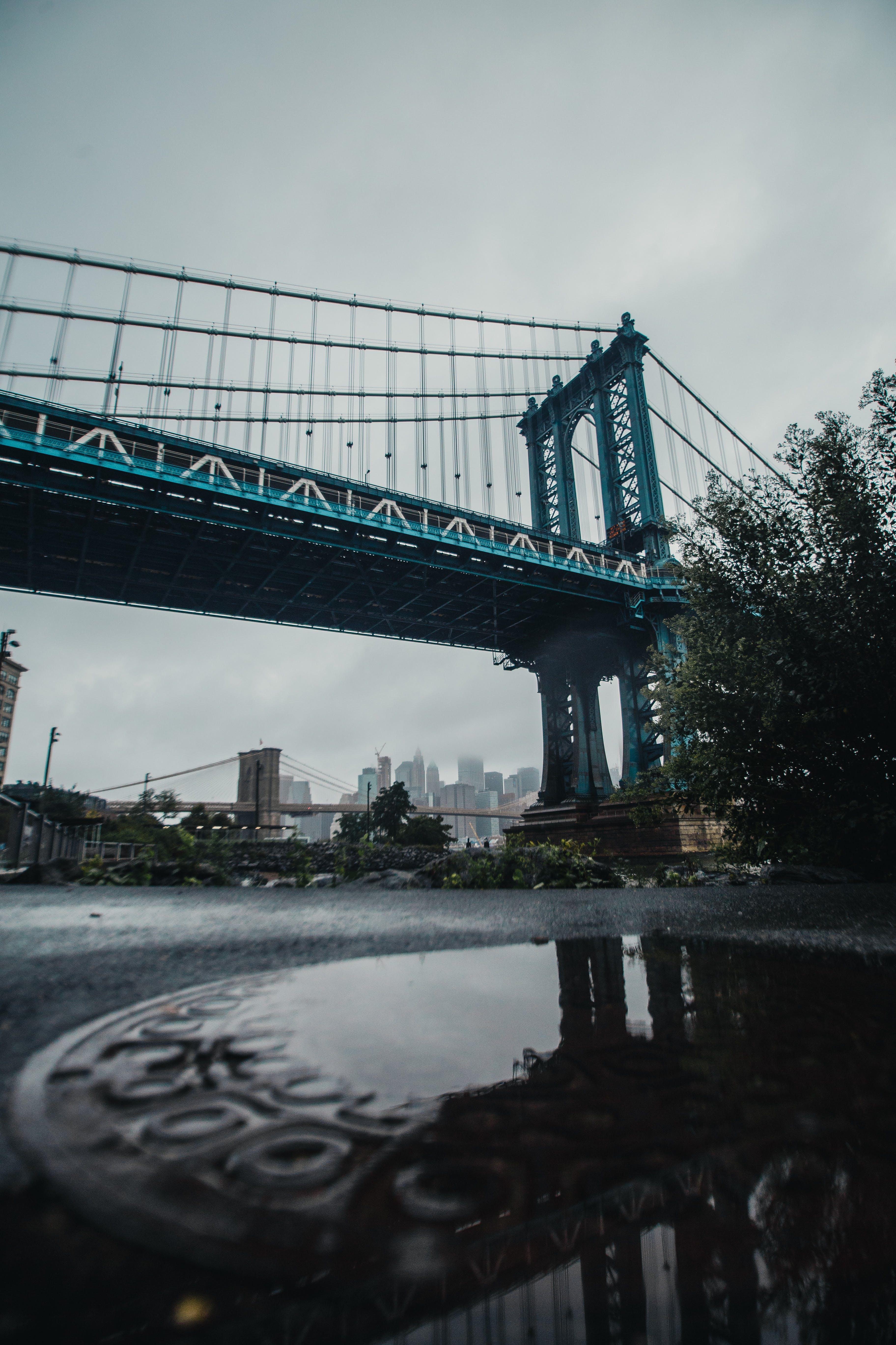 Low Angle Photography Bridge