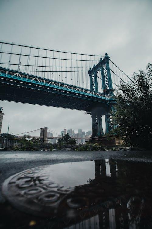 bakış açısı, dar açılı çekim, köprü, mimari içeren Ücretsiz stok fotoğraf