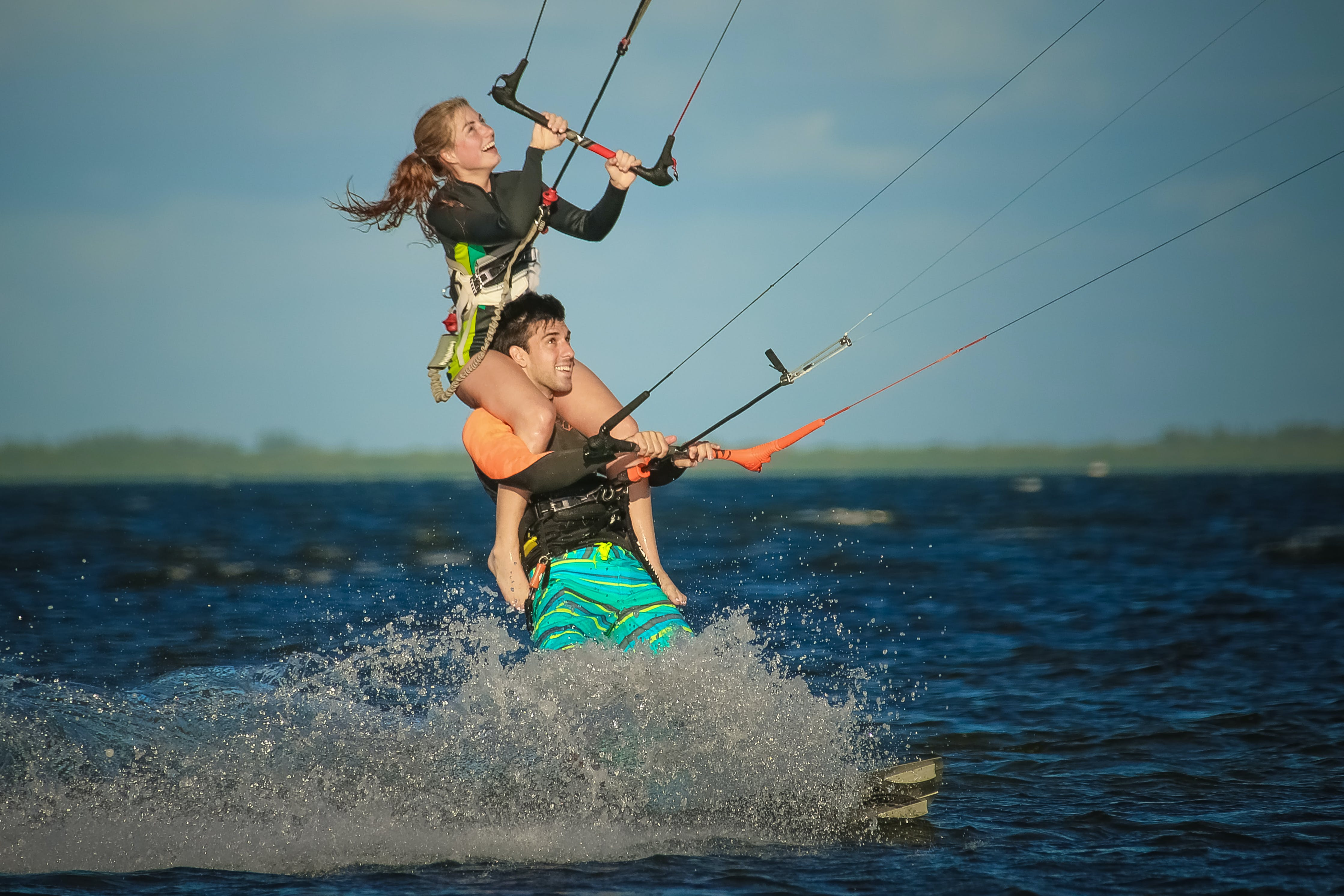 Free stock photo of beach, beachlife, happy, kiteboarding