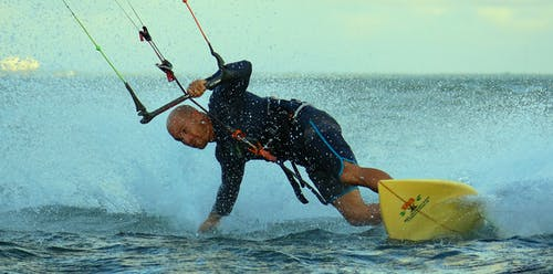 Photo of Man Kite-surfing