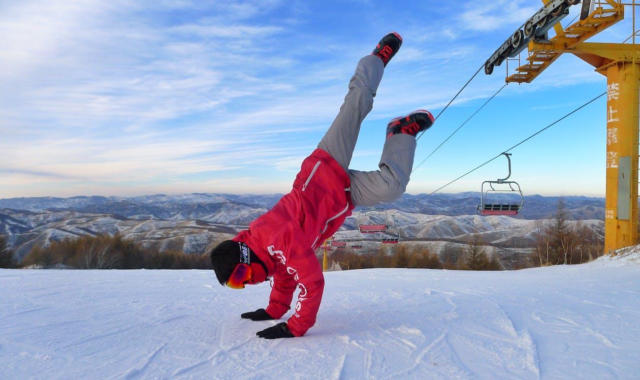 активный отдых, гора, зима