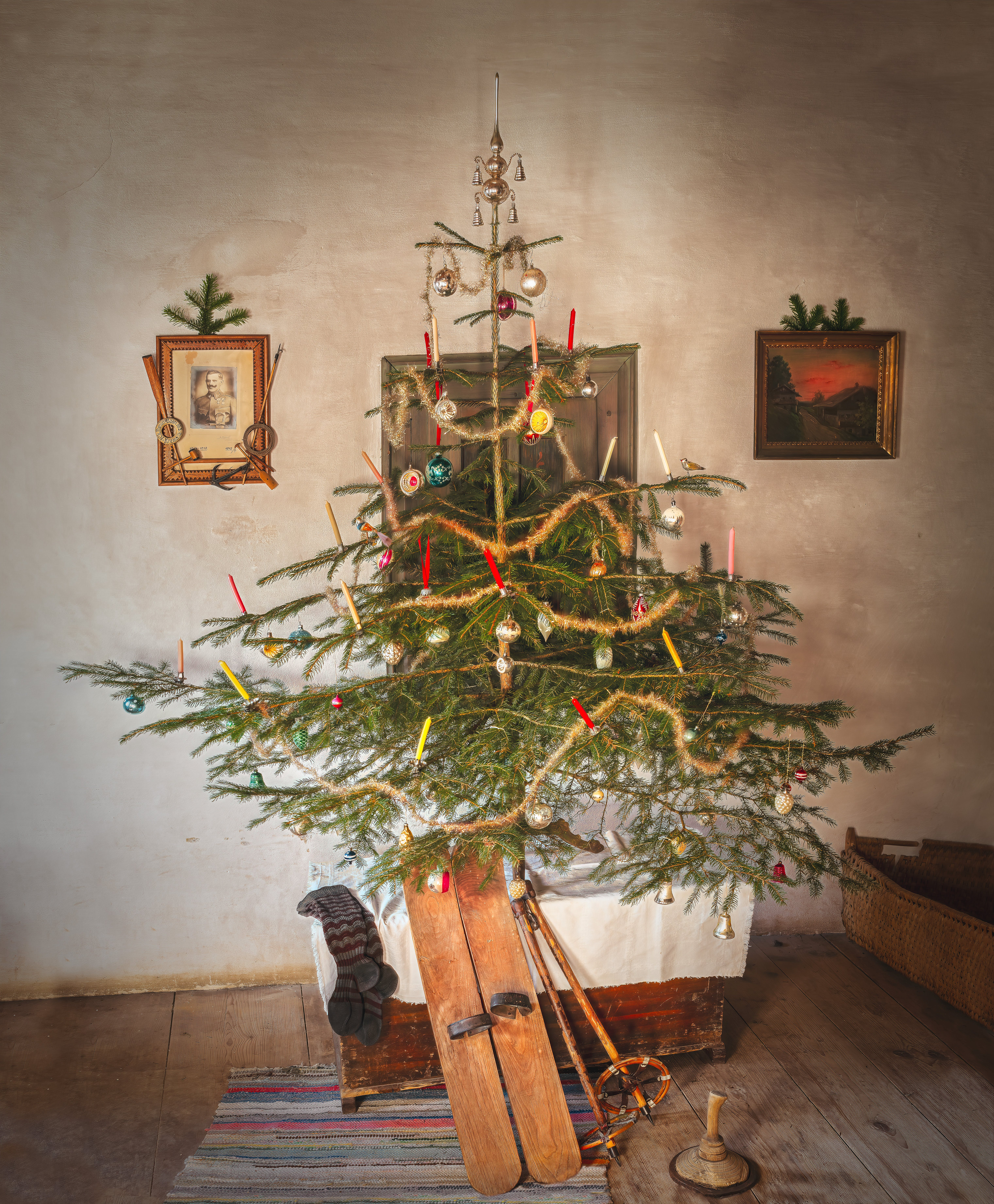 Christmas Tree In A Room