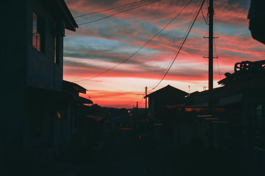 orangesky, δύση του ηλίου, ηλιοβασίλεμα