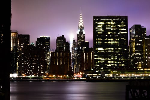 Free stock photo of chrysler building, city, city lights