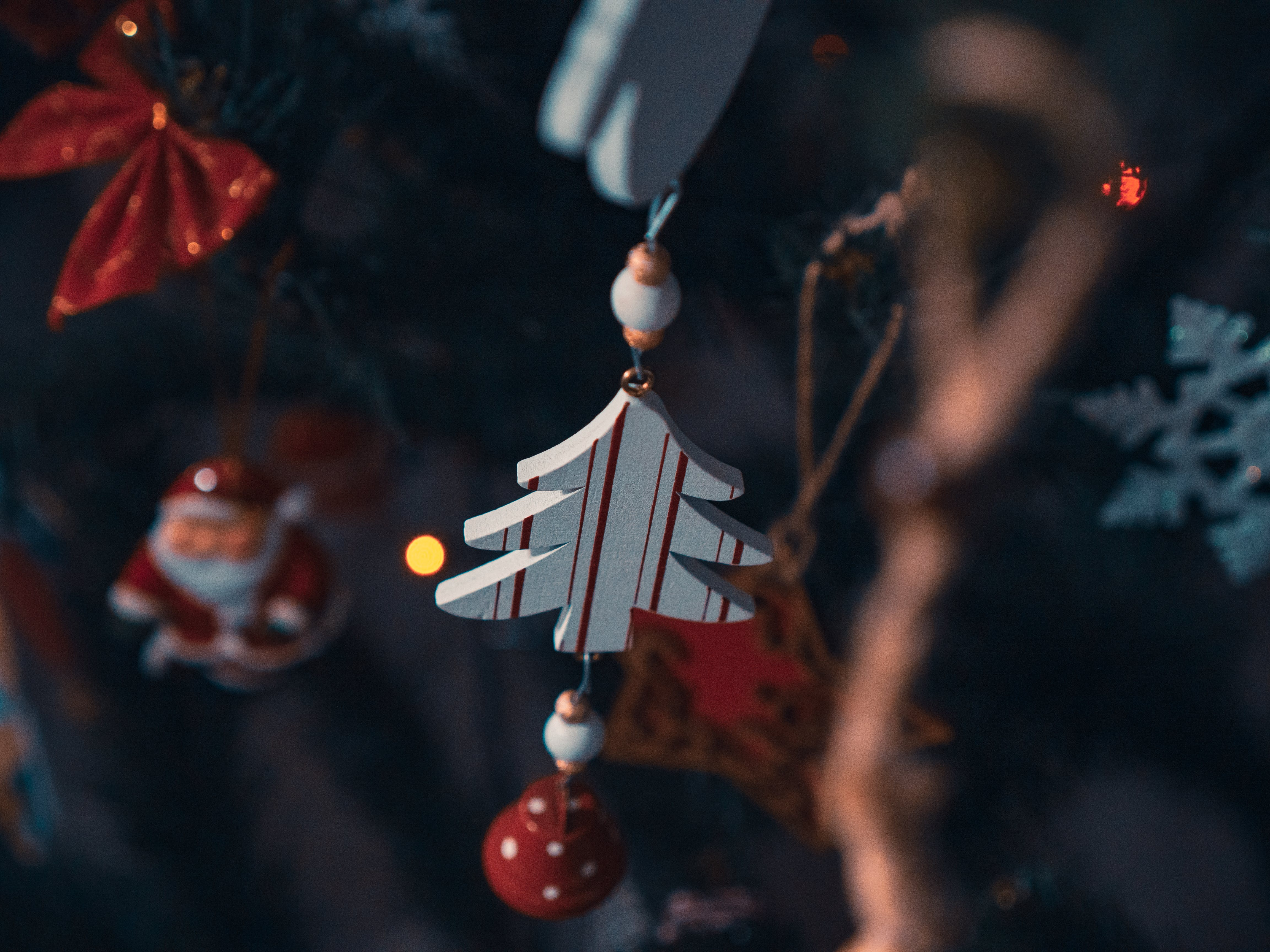 Close-Up Photo of Christmas Tree Ornaments