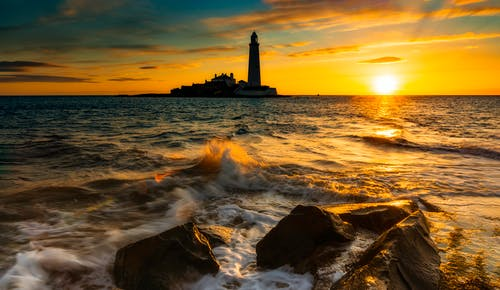Gratis lagerfoto af aften, gyldne horisont, havudsigt, idyllisk