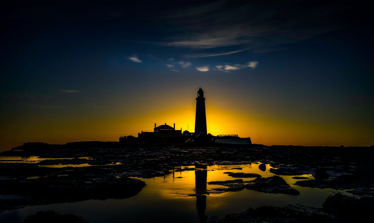 Silhouette Photo of Lighthouse