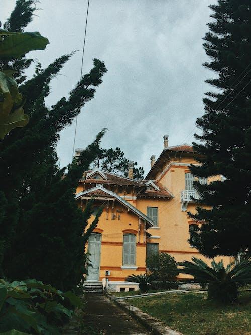 Бесплатное стоковое фото с архитектура, Архитектурное проектирование, вход, газон
