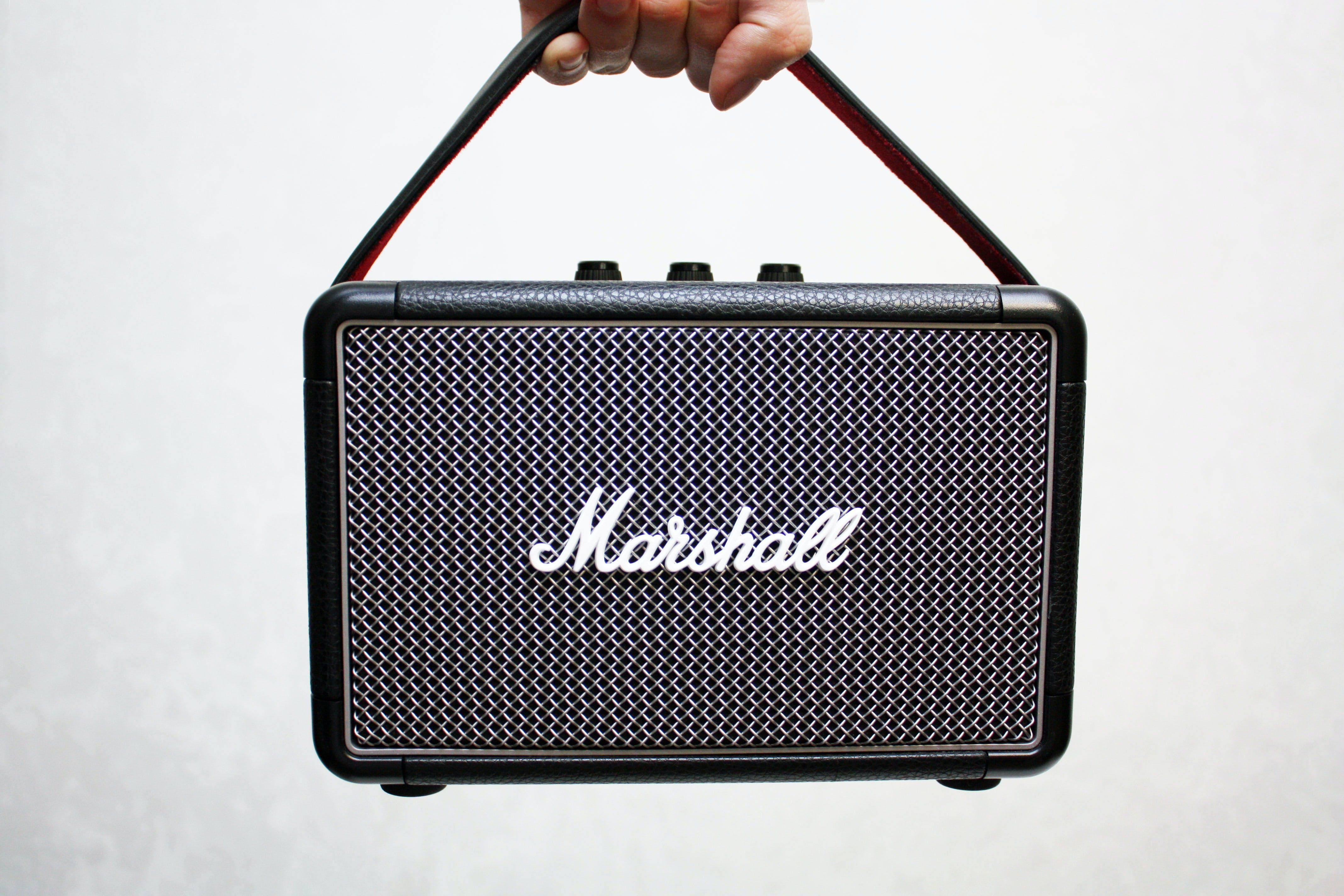 Black Marshall Portable Guitar Amplifier