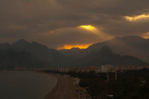 คลังภาพถ่ายฟรี ของ ตะวันลับฟ้า, ตุรกี, พระอาทิตย์ขึ้น, ภูเขา