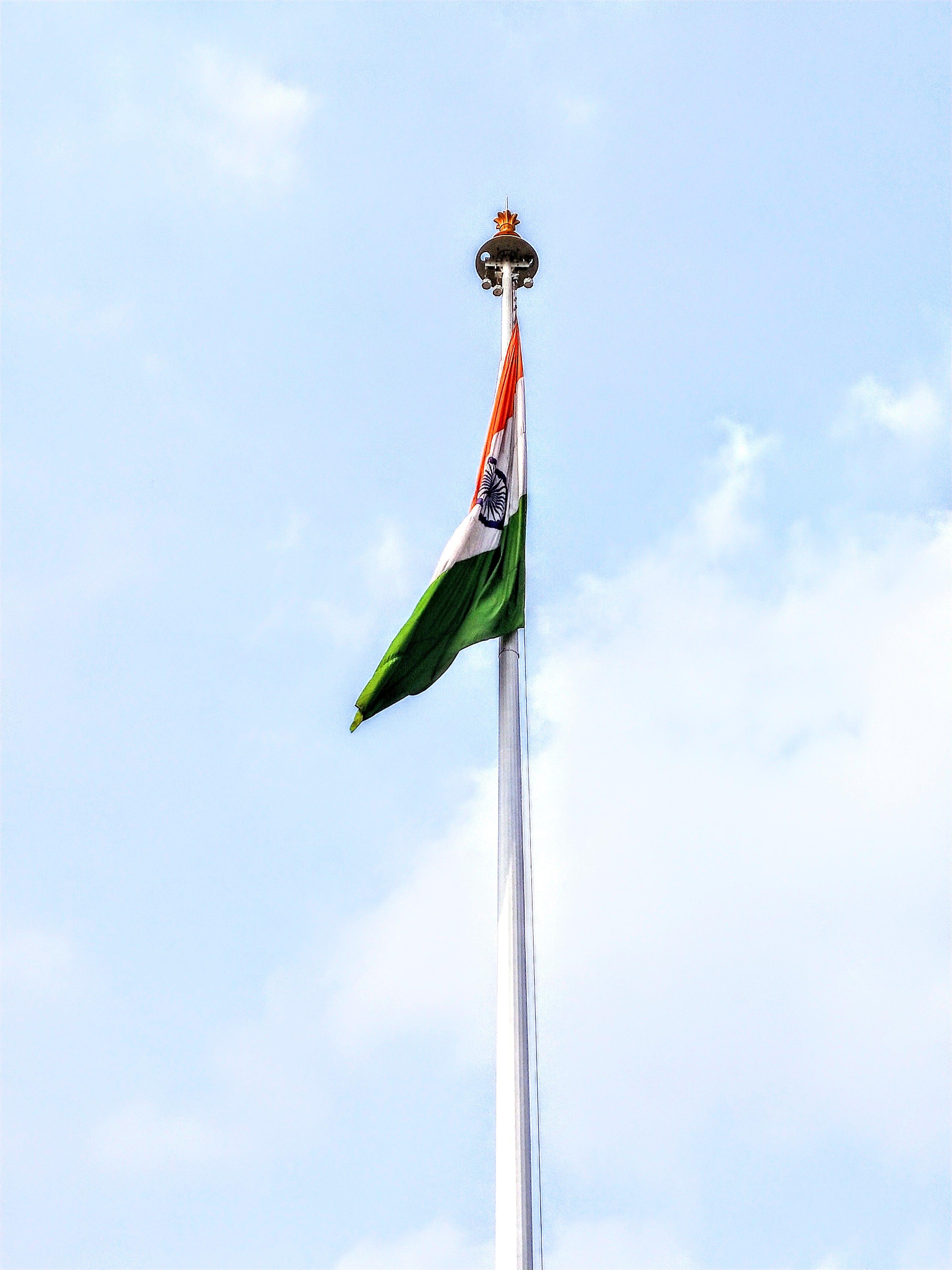 Free stock photo of Flagpillar ranchi, indian tradition, indianflag, national flag