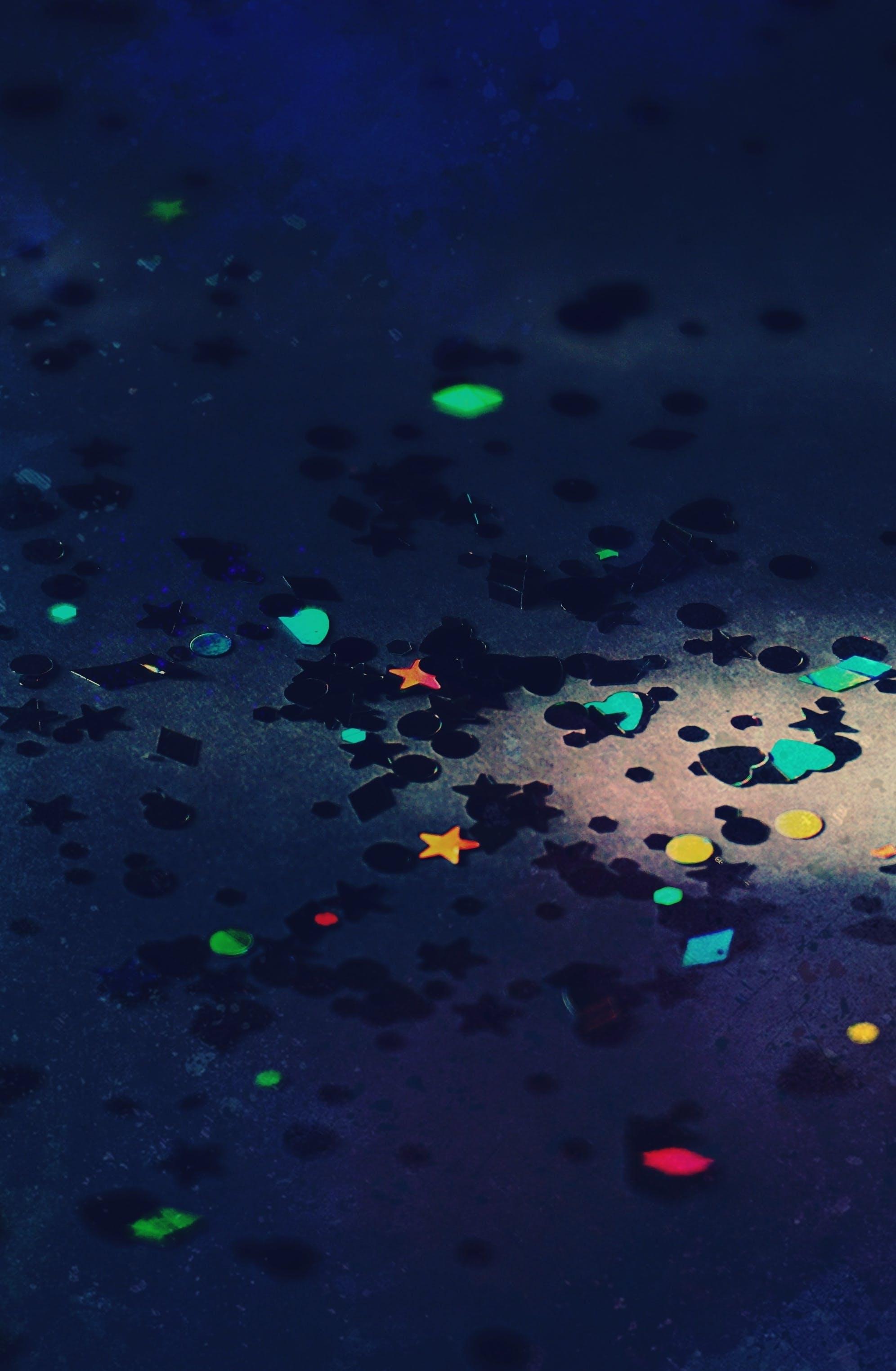 Kostnadsfri bild av blå bakgrund, färger, former, hjärta