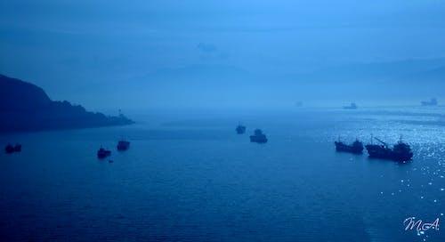 깊은 바다, 블루, 아침 해, 이른 아침의 무료 스톡 사진