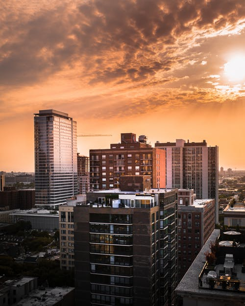 Scenic View Of Buildings During Dawn