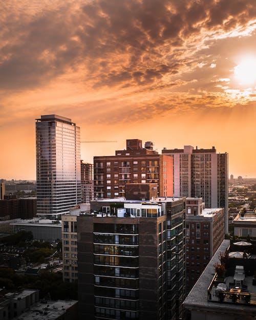 Gratis stockfoto met appartementsgebouwen, architectuur, binnenstad, bird's eye view