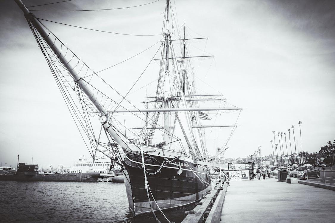 帆, 海洋, 碼頭