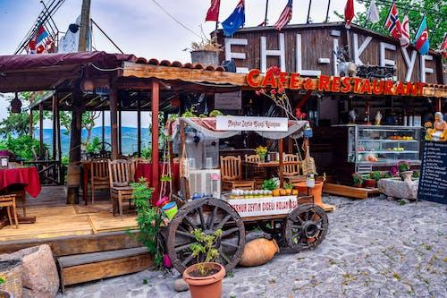 Immagine gratuita di bandiere, caffetteria, carro alimentare, commercio