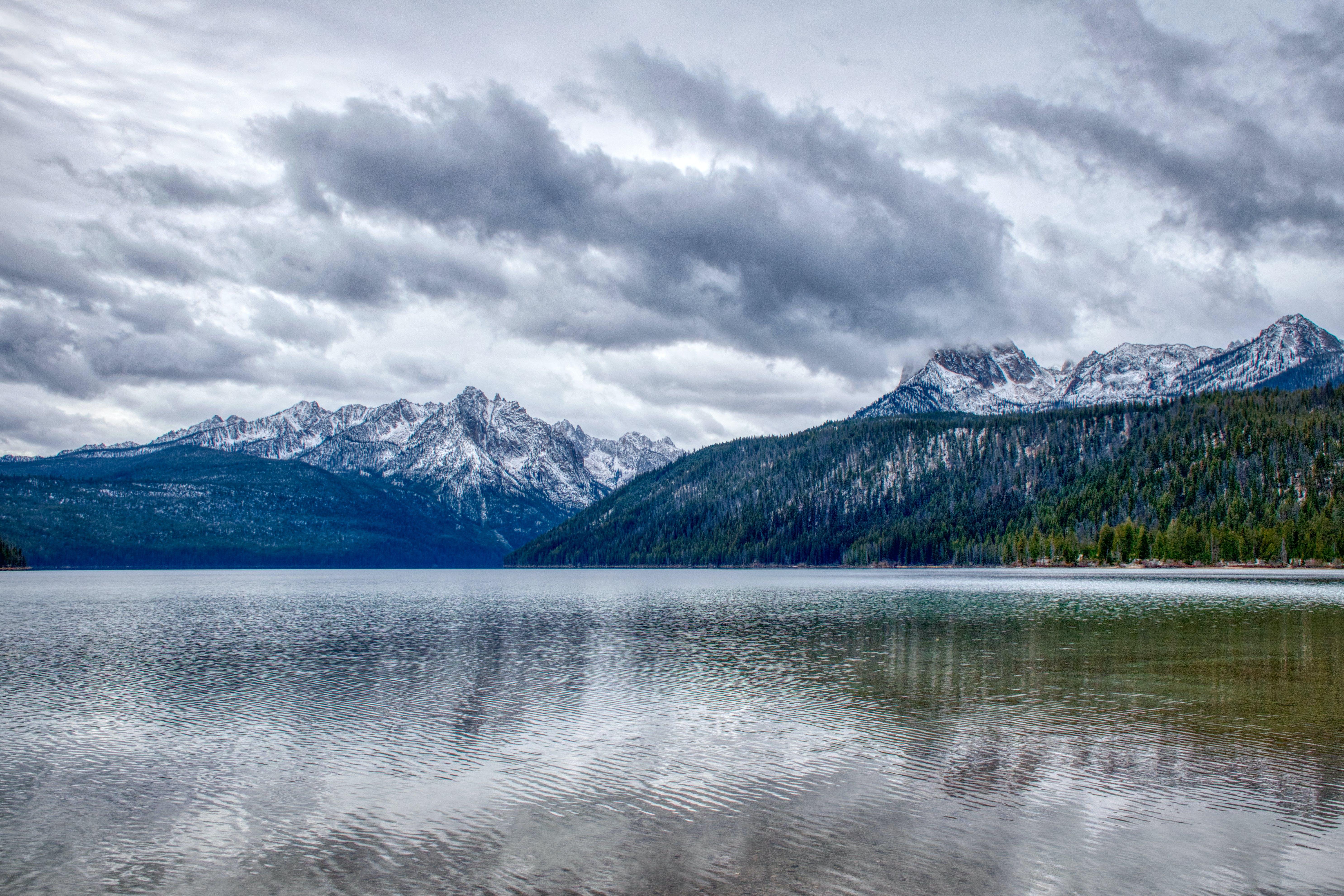Kostenloses Stock Foto zu berge, idaho, reflexionen, wolken