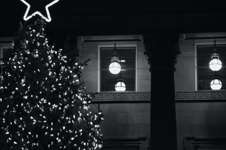 Kostenloses Stock Foto zu gebäude, kapitol, schwarz und weiß, star