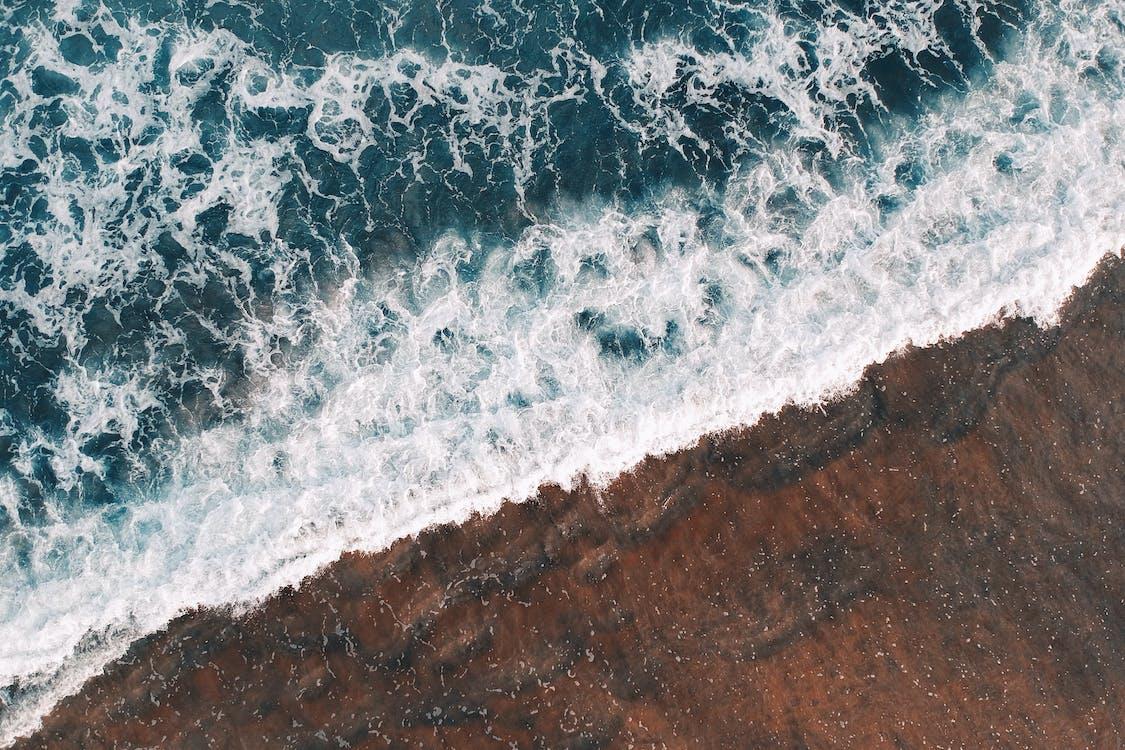 Аэрофотосъемка, берег, берег океана