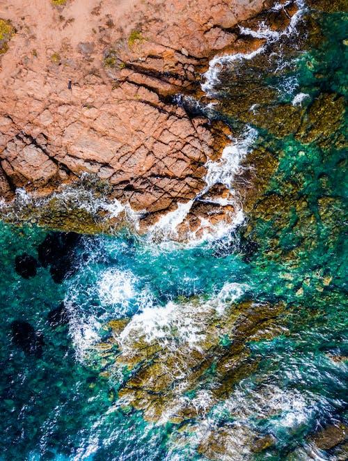 Gratis stockfoto met bird's eye view, kust, luchtfoto, oceaan