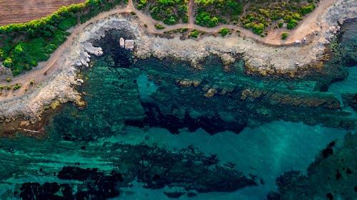 Imagine de stoc gratuită din de deasupra, fotografie din aer, mare, ocean