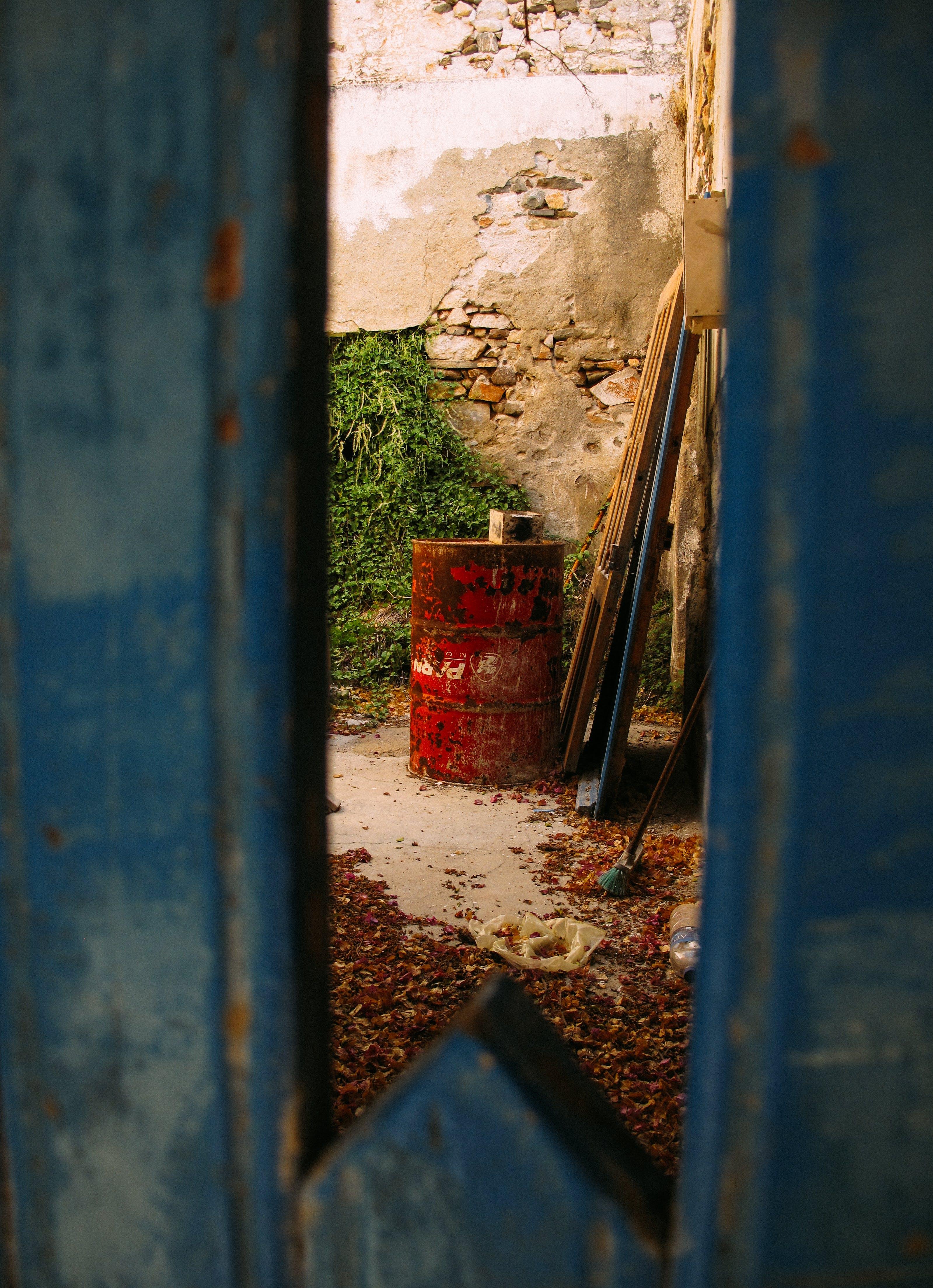 Red Metal Barrel